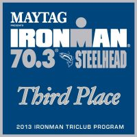 IM 70.3 Steelhead 2013 Club Third Place Award