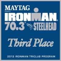 IM 70.3 Steelhead 2013 Club Third Place Award